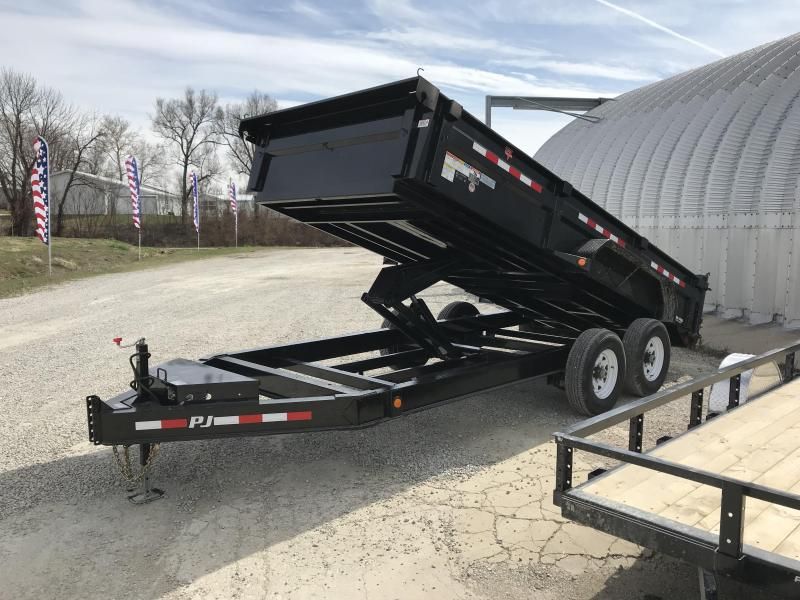 2018 PJ Trailers 16' Low-Pro Dump w/ I-BEAM FRAME