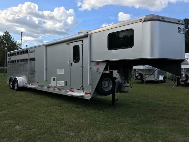2015 Shadow Stock 8.5 LQ with Slide and Mid Tack Horse Trailer