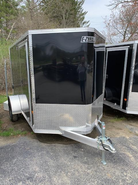 2019 EZ HAULER 6X10 Enclosed Cargo Trailer - BLACK - Ramp Door