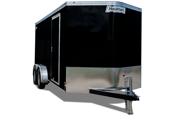 2019 Haulmark Transport 7x16 Enclosed Cargo Trailer w/ Ramp - Gray/Black Two Tone Paint