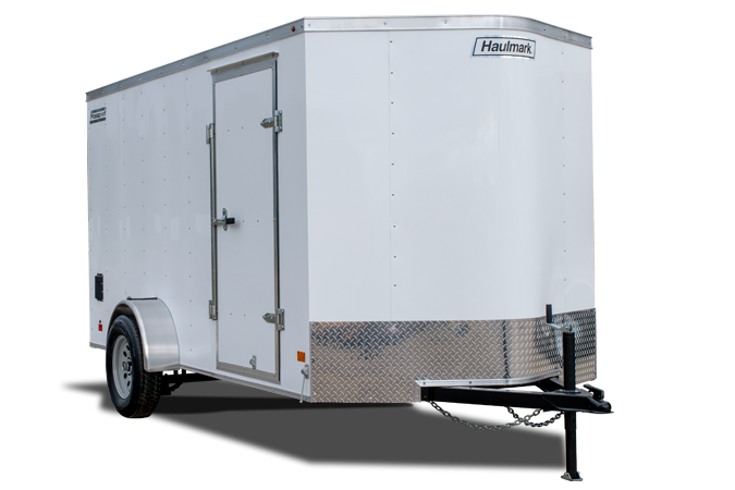 2019 Haulmark Passport 6X12 Enclosed Trailer w/ RAMP - WHITE