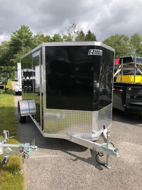 2019 EZ HAULER 6X12 Enclosed Cargo Trailer w/ RAMP - BLACK