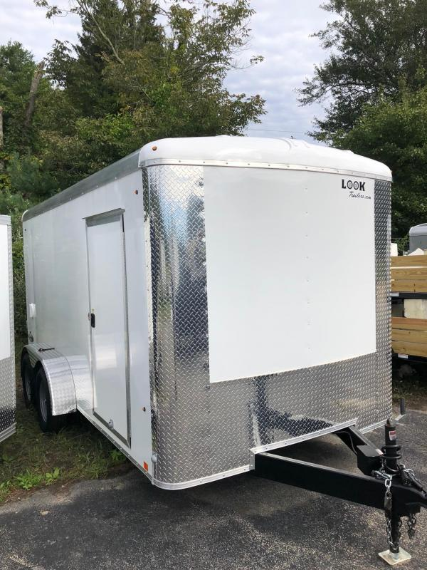 2018 Look Trailers Element Se Cargo Cargo / Enclosed Trailer w/ RAMP - WHITE