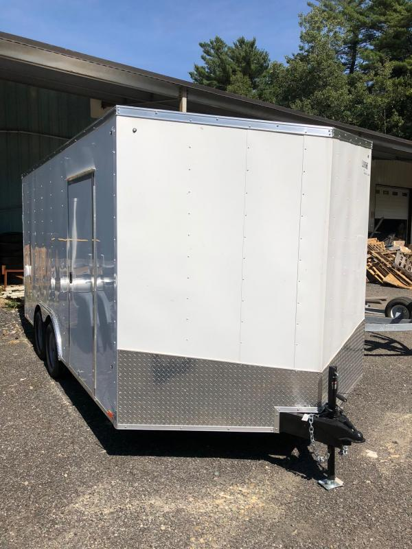 2018 Look Trailers STLC85X16TE2DLX Enclosed Cargo Trailer W/ RAMP - WHITE