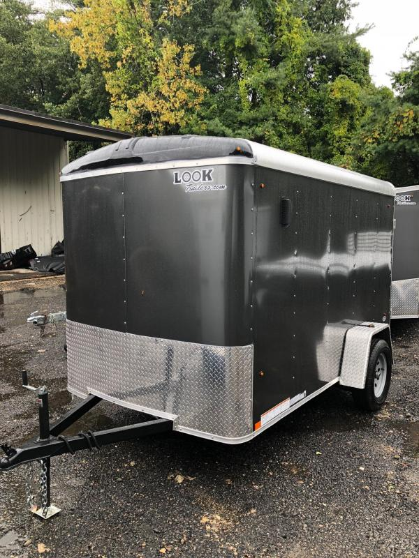 2018 Look Trailers Strlc Round Top Cargo Dlx Cargo / Enclosed Trailer w/ RAMP - CHARCOAL