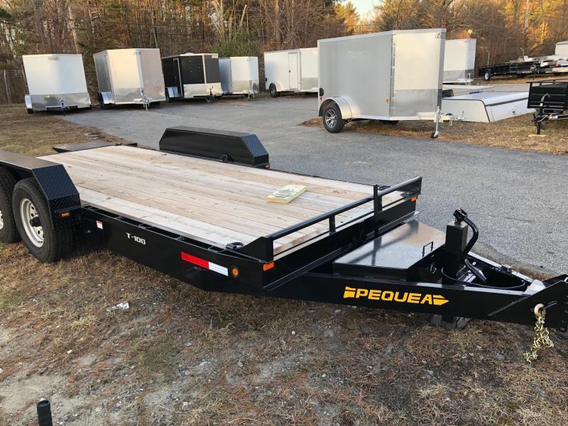 2019 Pequea T-100 FULL TILT Equipment Trailer (9999GVWR)