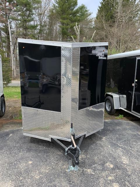 2019 Look Trailers 6X12 Cargo Flat Top Cargo / Enclosed Trailer w/RAMP - Black