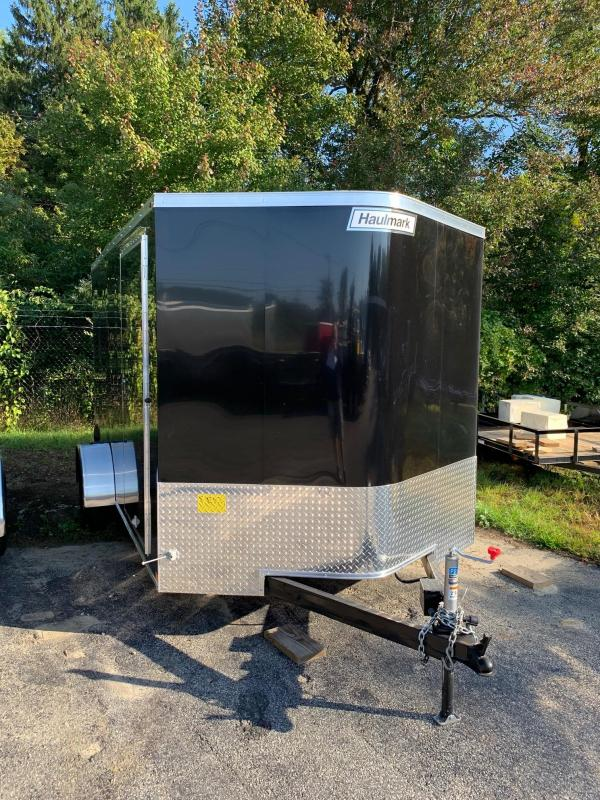 2019 Haulmark Transport 7X12S Enclosed Cargo Trailer w/ RAMP - BLACK