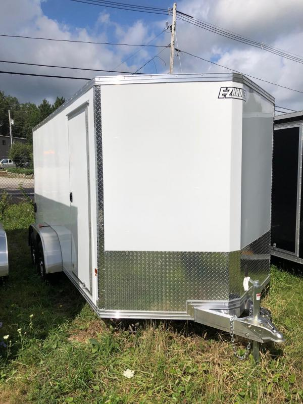 2018 EZ Hauler EZEC7X14 Enclosed Trailer w/ RAMP - WHITE