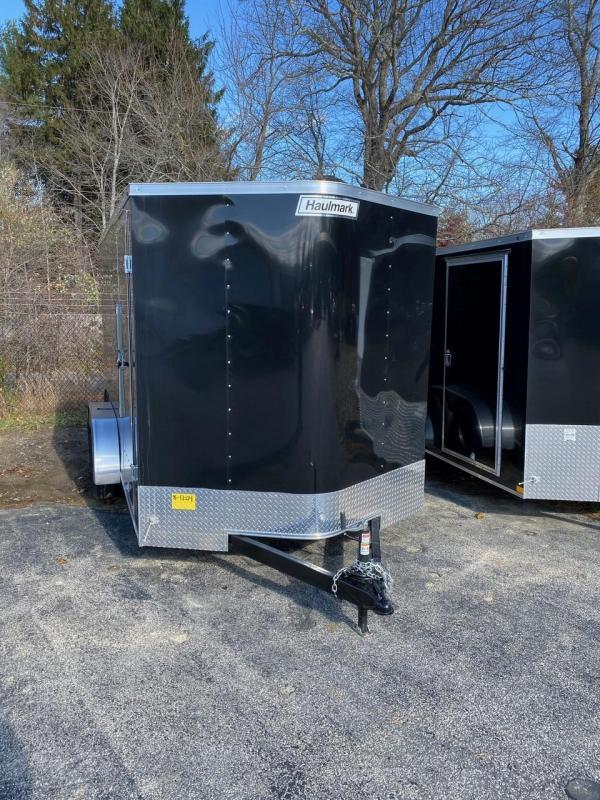 2020 Haulmark Passport 7X14 Enclosed Cargo Trailer - w/ BARN DOORS - BLACK