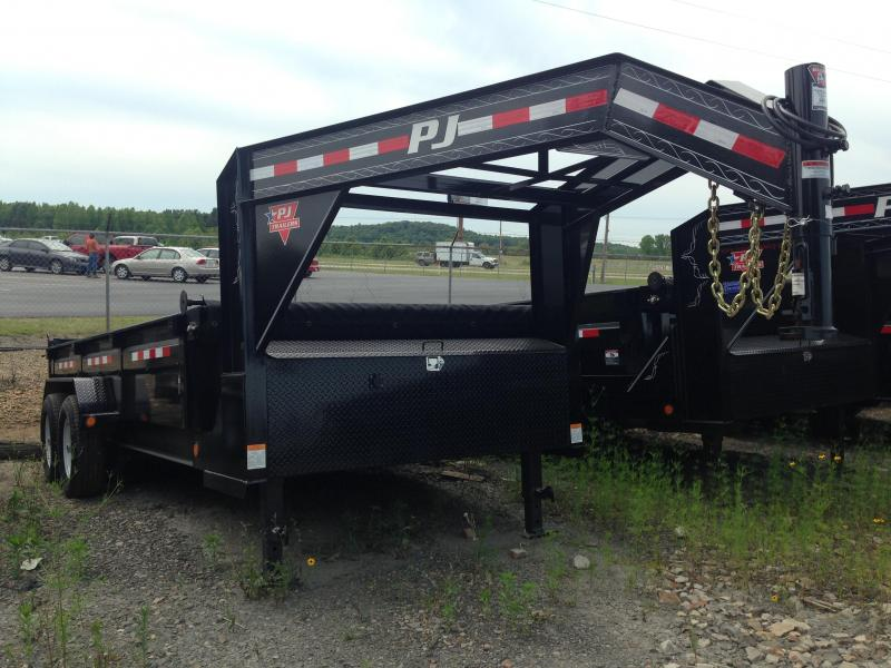 83x16 PJ Lo Pro Gooseneck Dump Trailer-Tarp Included