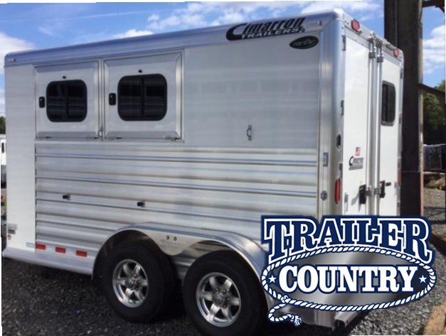 2018 Cimarron Trailers NORSTAR 2 HORSE BUMPER PULL WITH FRONT DRESSING R Horse Trailer