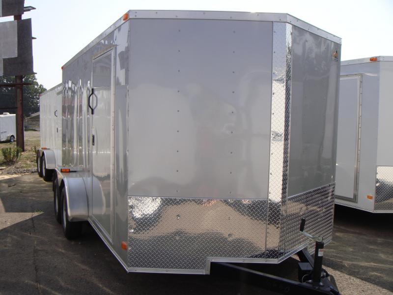 7x14 Cargo Trailer Ramp Silver 6 6