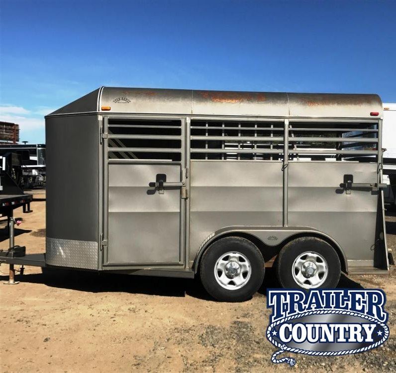 2010 Open Range Trailers 2 HORSE SLANT BUMPER PULL WITH FRONT TACK Horse Trailer