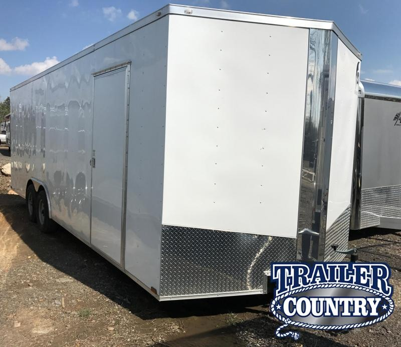 8.5x24 Enclosed Cargo Carhauler Trailer