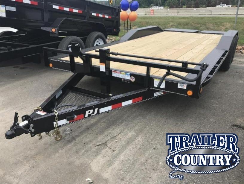 102x20 PJ Superwide Equipment Trailer-Monster Ramps