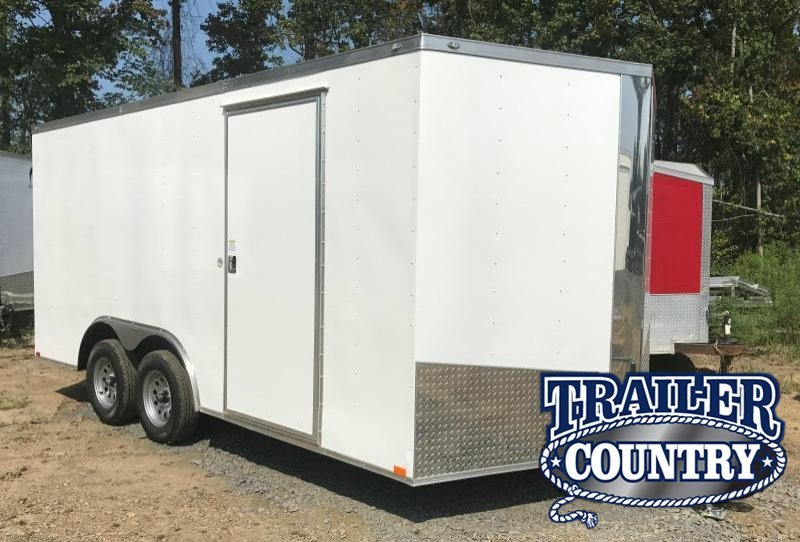 "8.5x16 Enclosed Cargo Trailer-6'6"" Height-Ramp Door-CLEARANCE"