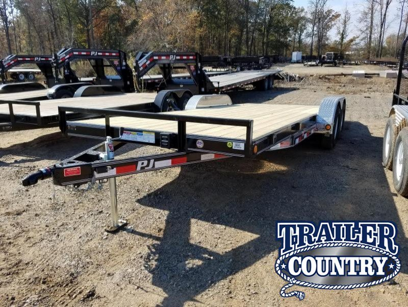 83x20 PJ Carhauler-3500lb. Axles 2' Dovetail 5' Slide in Ramps