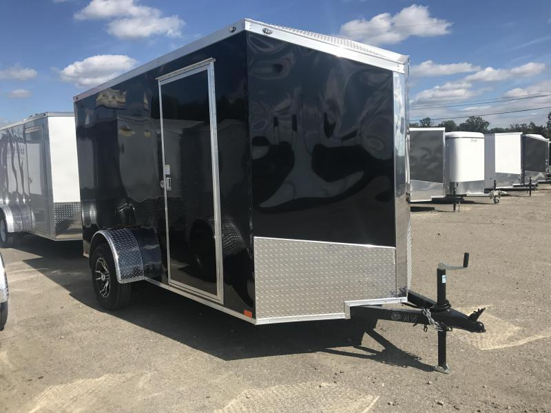 6x12 Enclosed Cargo Trailer-Ramp-Upgraded Wheels