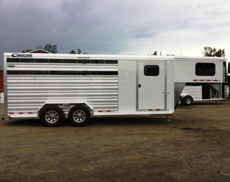 2017 Cimarron Trailers LONESTAR 20 STOCK COMBO W/FRONT TACK Horse Trailer