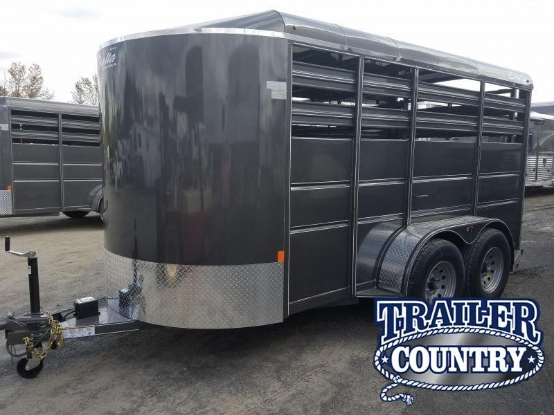 2019 Delta Manufacturing 14FT BUMPER STOCK Livestock Trailer