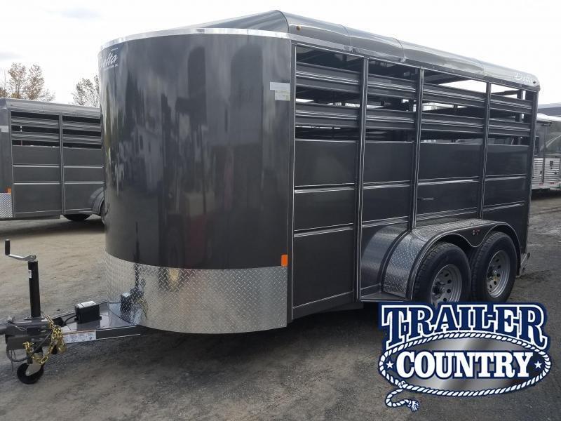 2019 Delta Manufacturing 14FT BUMPER STOCK Livestock Trailer