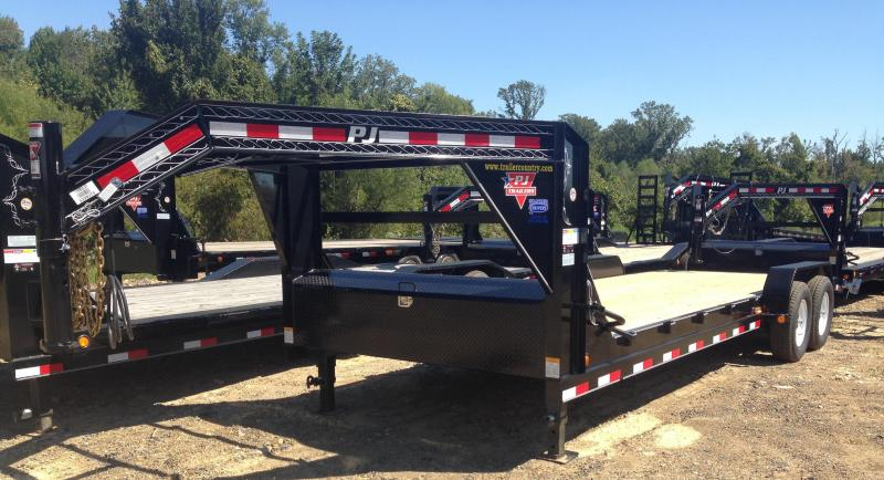 83x24 PJ Equipment Trailer-7000lb Axles-Rear Slide In Ramps