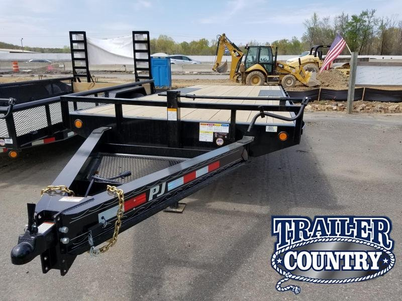 2018 PJ Trailers 20ft 8 I-Beam Equipment Trailer