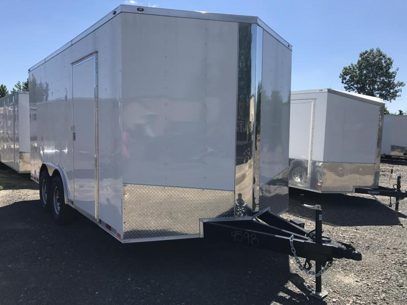 8.5x16 XXL Enclosed Cargo Trailer-7K Axles-CLEARANCE