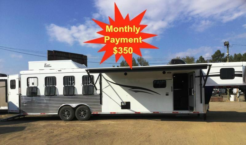 2017 BISON 8412RGGB 4 HORSE RANGER GALLEY BAR WITH 12' SHORT WALL **JUST REDUCED***