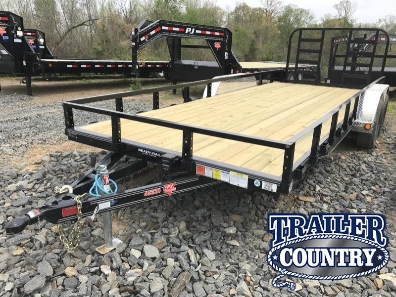 83x20 PJ Brand Utility Trailer-5200lb Axles-HD Rear Gate