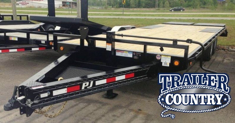 96x24 PJ Deckover Equipment Trailer-Monster Ramps-CLEARANCE