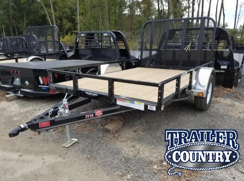 77x10 PJ Utility Trailer-Rear Gate-Powder Coated