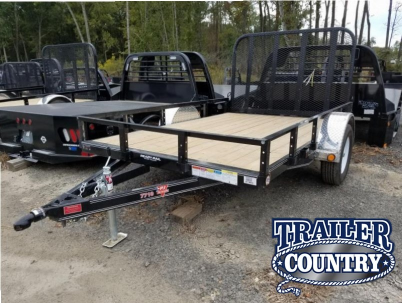 77x10 PJ Utility Trailer-Rear Gate-Powder Coated