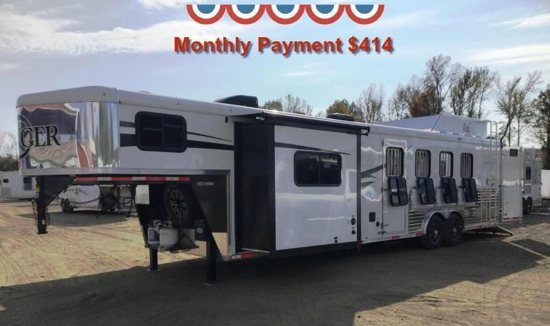 2017 BISON 8414RG 4 HORSE RANGER WITH 14' SHORT WALL ***JUST REDUCED***