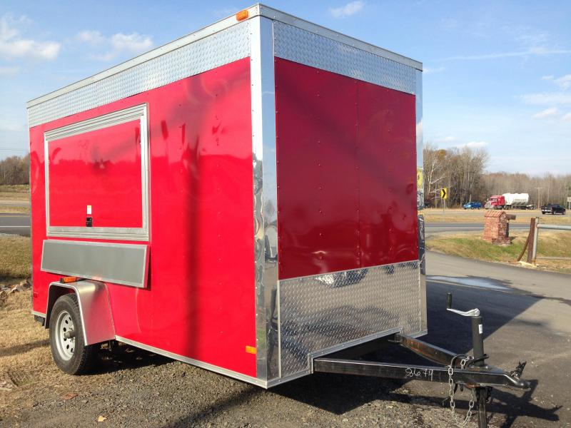 USED 2013 6x12 Enclosed Concession Trailer