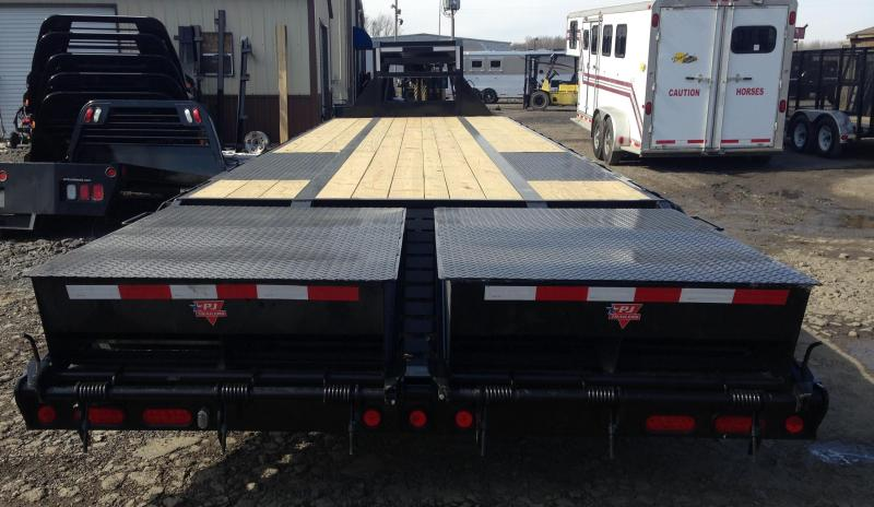 102x32 PJ Lo Pro Flatdeck Trailer with Duals-Monster Ramps