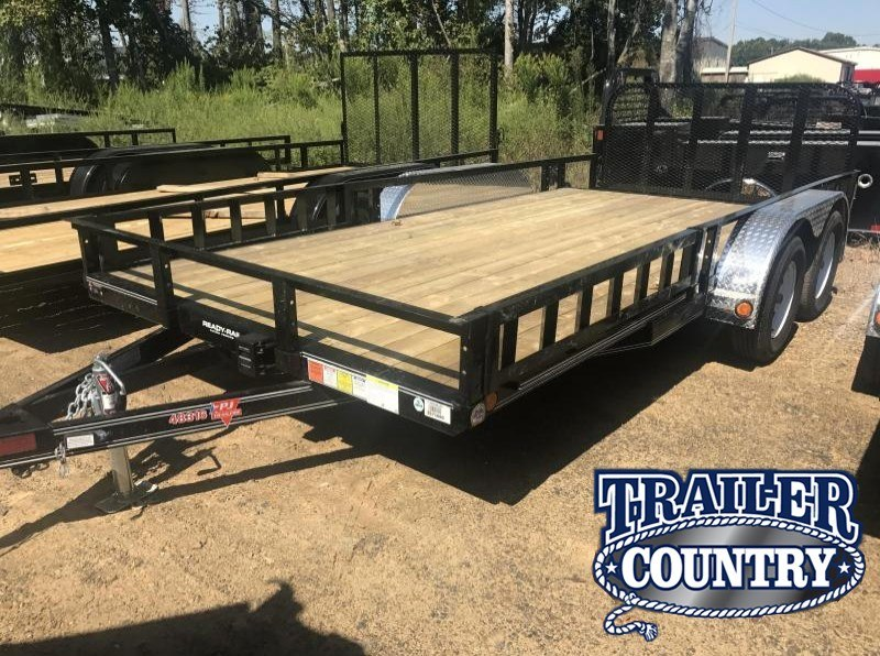 83x16 PJ Utility Trailer-4'HD Rear Gate-Dovetail