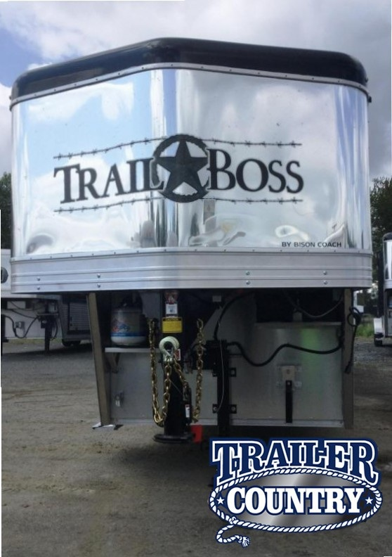 2018 Bison Trailers 7410TB 4 HORSE TRAIL BOSS Horse Trailer