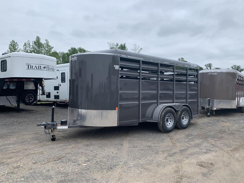 2019 Delta Manufacturing 16FT STOCK Livestock Trailer