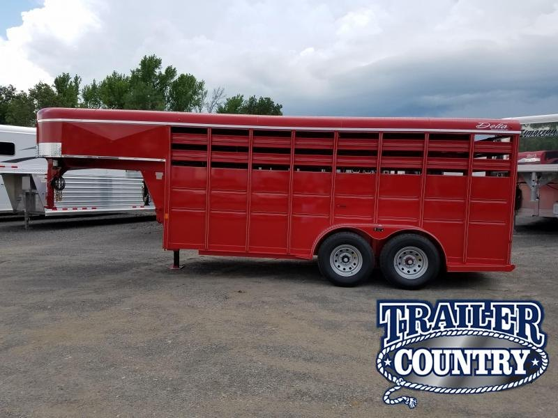 2018 Delta Manufacturing 16ft 500 series GN Livestock Trailer