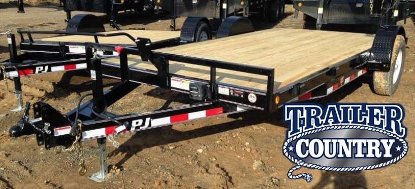 83x16 PJ Single Axle Carhauler Trailer-CLEARANCE