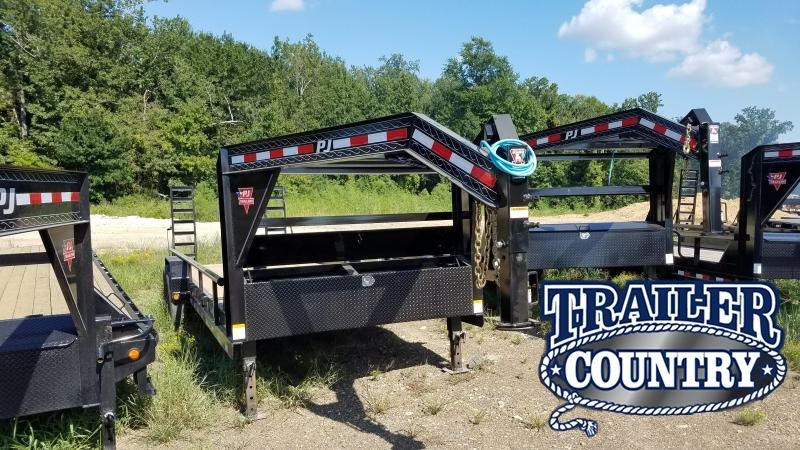 2020 PJ Trailers 24 FT GOOSENECK Equipment Trailer