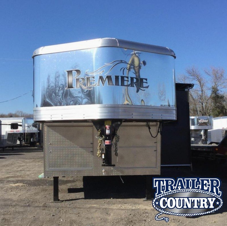 2016 Bison Trailers 8417PRDS Premiere Limited Edition Package Horse Trailer