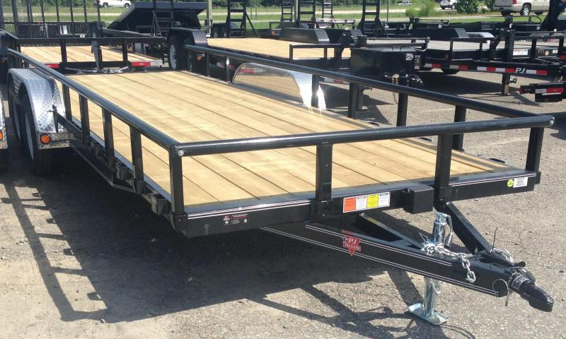 83x18 PJ Utility Trailer-Rear Ramps-Pipetop