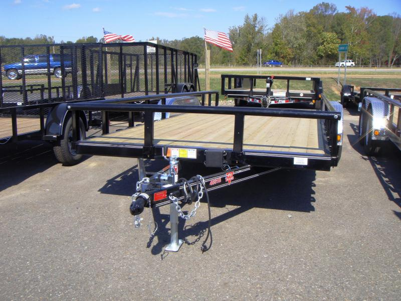 83x18 Utility Trailer Rear Ramps