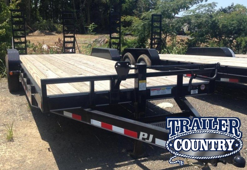 83x24 PJ Equipment Trailer-7K Axles-Fold Up Ramps