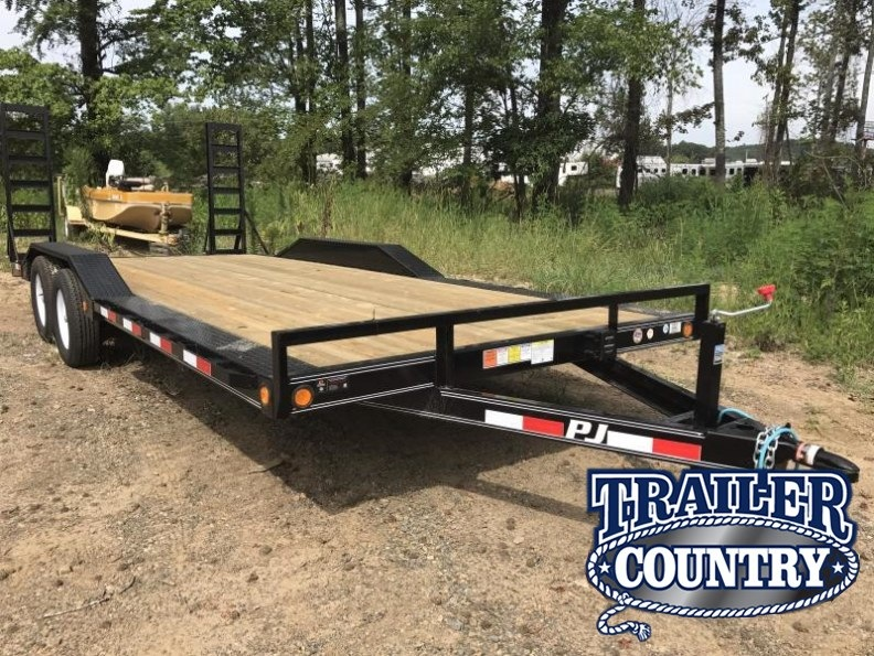 102x20 PJ Buggy Hauler Trailer-Fold Up Ramps