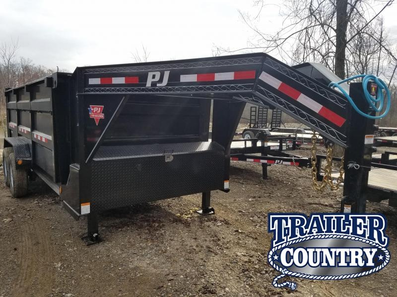 2020 PJ Trailers 83X16 LOW PRO HIGH SIDE Dump Trailer