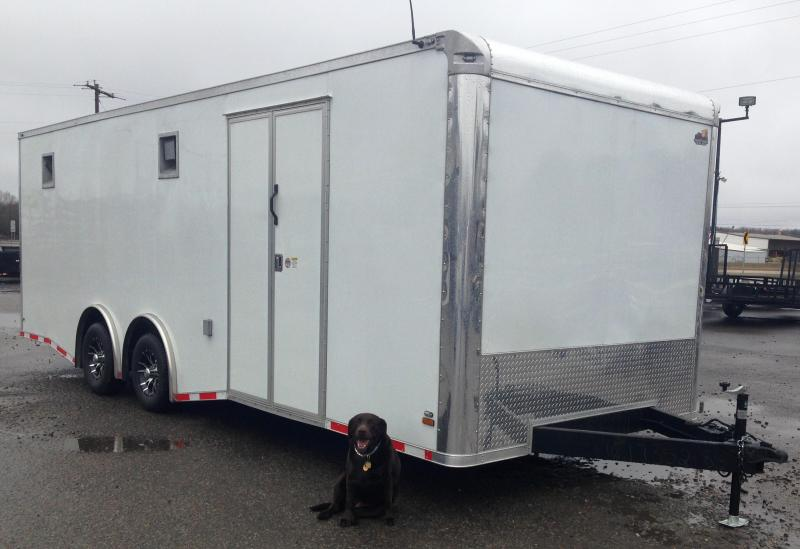 8.5x24 Enclosed Car / Racing Trailer-Fully Loaded
